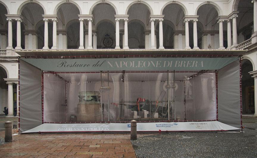 Il restauro del Napoleone di Canova a Brera