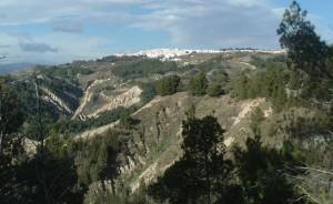 Panorama di Pisticci visto dai Calanchi