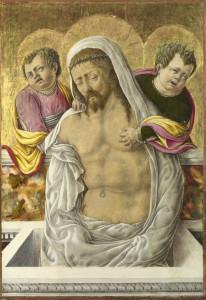 Schiavone Cristo in pietà e angeli