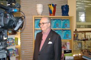Gualtiero Marchesi durante un'intervista