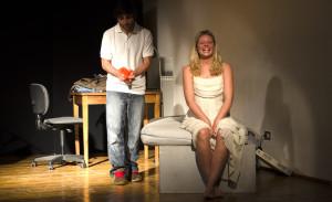 Una scena del lavoro con Lilly