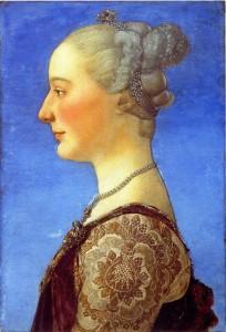 Piero del pollaiolo Ritratto femminile Galleria degli Uffizi Firenze