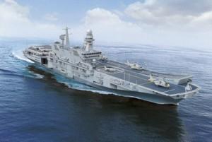 La portaerei della Marina Italiana sulla quale si è svolta la Fiera galleggiante