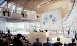La sala conferenze del Pavillon UniCredit