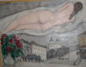 Nudo sopra Vitebsk, 1933, olio su tela, collezione privata