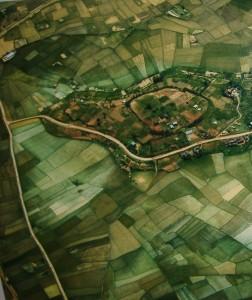 La visione aerea di una città africana
