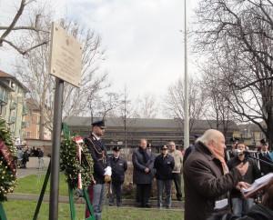 3 Intervento di A. Iosa all'inaugurazione del Giardino intitolato al maresciallo  Lino Ghedini, 16 febbraio 2013.