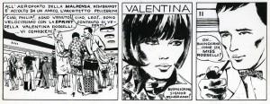 Una tavola originale di Crepax con la prima apparizione di Valentina