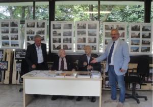 Gli oratori: A. Brabalinardo, A. Iosa. T. Barbato e il Direttore scolastico A.L. Rossi