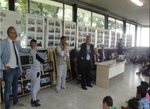 Un momento della presentazione della mostra