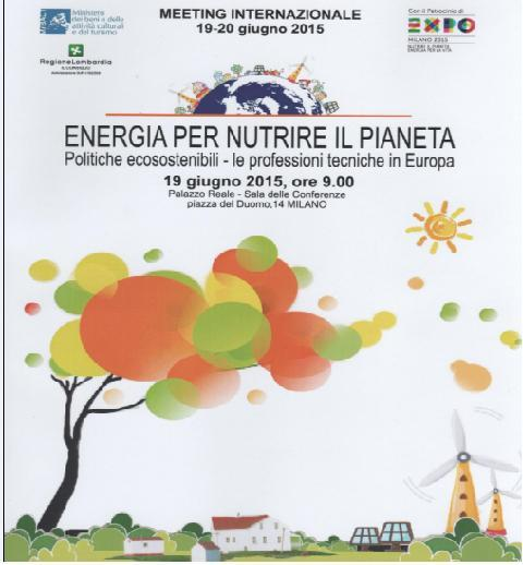"Meeting Internazionale: ""ENERGIA PER NUTRIRE IL PIANETA"""