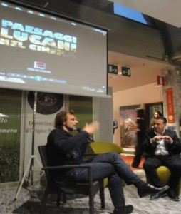 L'attore Alessandro Prezioso intervistato del giornalista Cataldo Calabretta