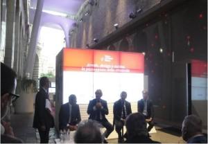 Gli oratori: R.M.Monti, R.Snaidero, C.Calenda e A.Baldan