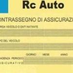 AUTO: SPARISCE IL CONTRASSEGNO ASSICURATIVO