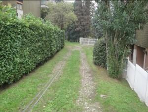 Ex tracciato ferroviario in via Gallarate tra i civici 49 e 55