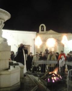 La benedizione del fuoco e degli animali nella piazza San Antonio Abate