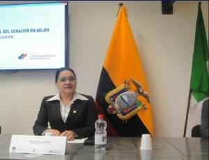 Narcisa Soria Valencia, console dell'Ecuador
