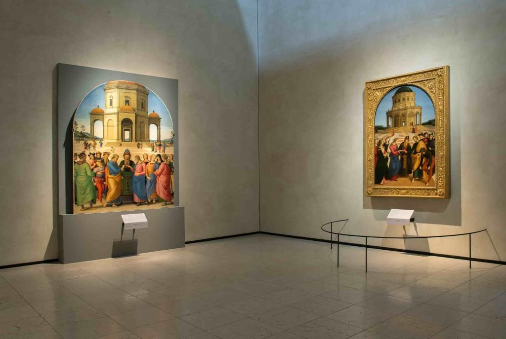 Perugino e Raffaello dialogano tra loro grazie a due opere dello stesso soggetto: Lo sposalizio della Vergine