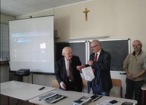 Antonio Iosa, presidente della Fondazione Carlo Perini e il prof. Angelo Lucio Rossi, Dirigente Scolastico