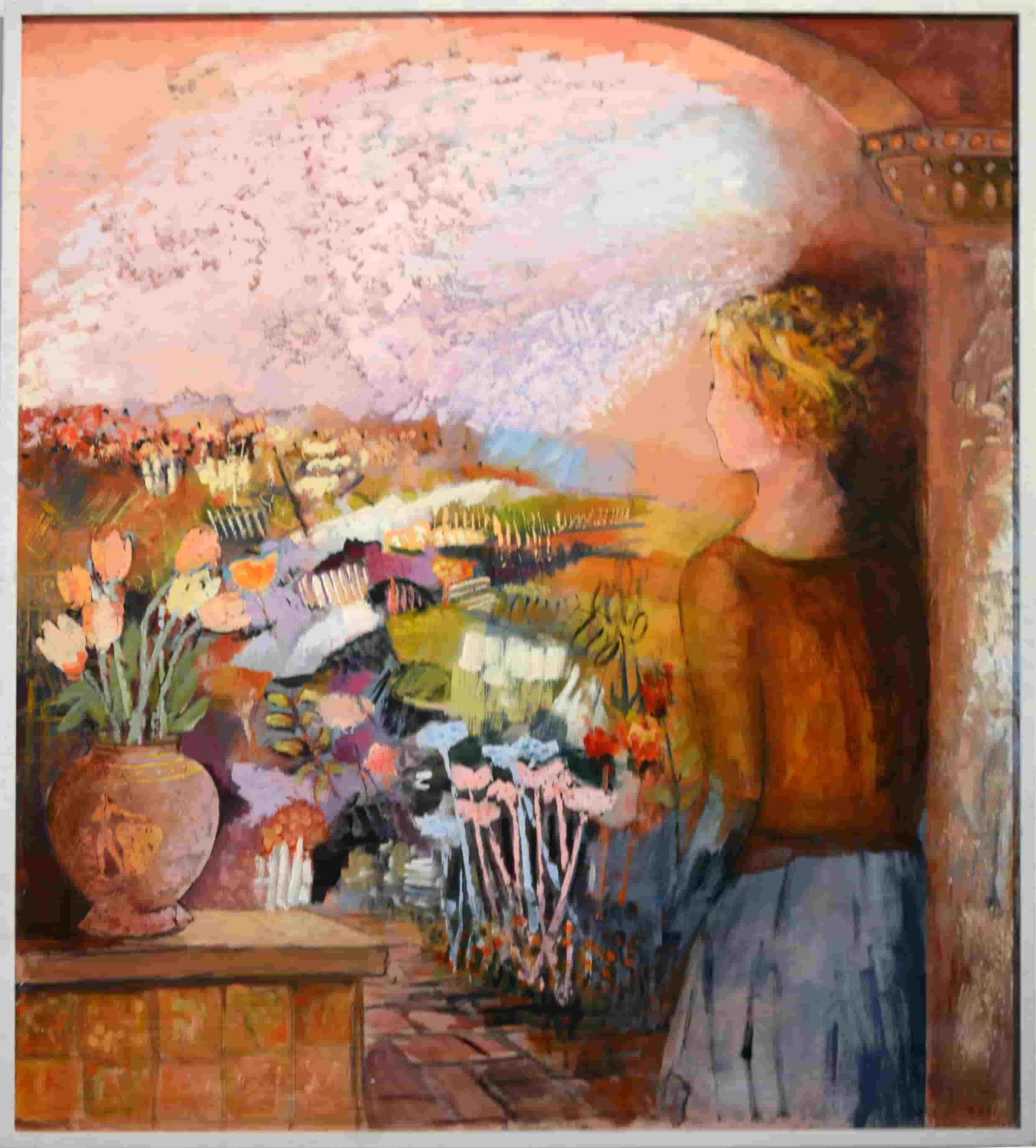 Bruno zago la delicatezza della pennellata dal figurativo all informale - La finestra sul giardino ...