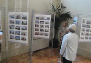 Alcuni pannelli di foto alla mostra