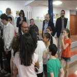 Il Sottosegretario all'Istruzione Davide Faraone visita la scuola di via Sapri 50