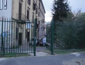 Cancello lato Via Fusinato