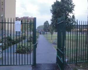 Cancello lato via Riccione