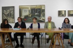 Durante la presentazione del libro, Il secondo da sinistra è Carlo Piano, figlio di Renzo.