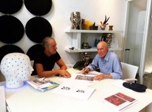 L'architetto Micheli con il Maestro Bernardinello