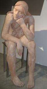 Una scultura in mostra