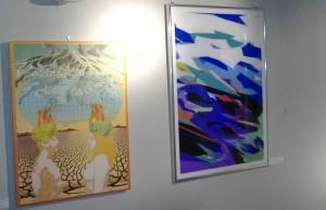 Due dipinti in esposizione