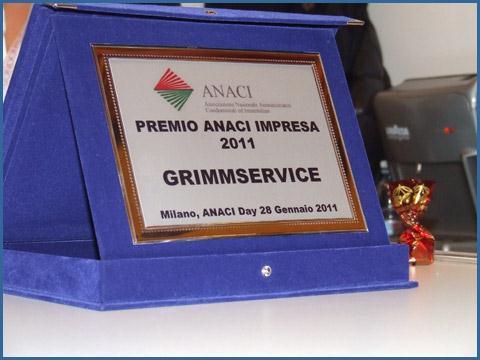 Un importante riconoscimento attribuito dall'Anaci nel 2011