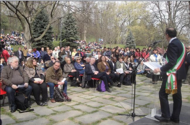 In prima fila i Giusti 2017 presenti alla cerimonia