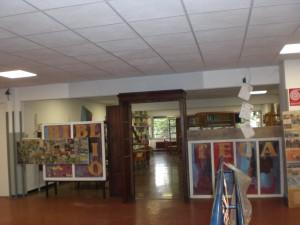 L'ingresso della Biblioteca