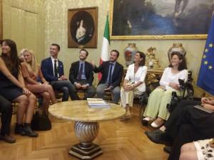I rappresentanti del Municipio 8 con la Presidente Laura Boldrini