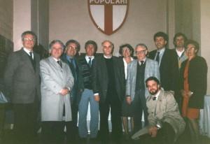 Incontro con il Presidente Giovanni Bianchi nel maggio 1996