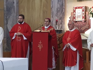 La Concelebrazione di Mons. M. Delpini con don O. Boscolo e don E. Rasi