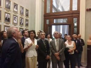 La Presidente L. Boldrini descrive la sala delle Donne