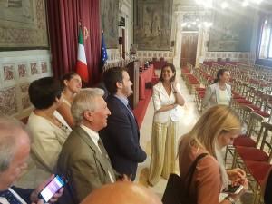 Con la Presidente Boldrini nella sala della Regina