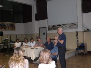 L'intervento del parroco don G. Ceruti.