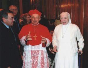 Il cardinale in un'altra visita all'Istuituto Palazzolo, dicembre 2007