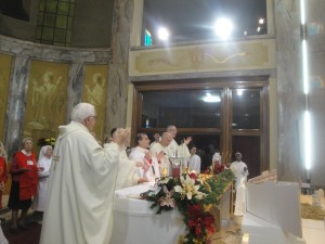 Un momento della concelebrazione Eucaristica