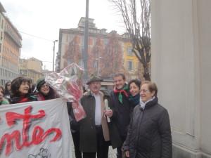 Il Partigiano G. Marzona con S. Zambelli e A. Oriani