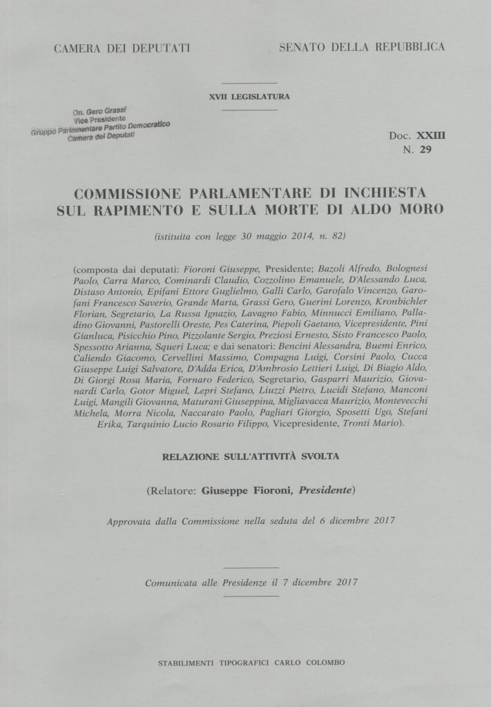 Fascicolo Commission parlam. su rapimento e morte A. Moro