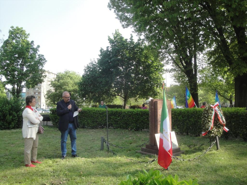 Rossella Montagnani con il Preside Angelo L. Rossi