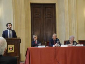 L'intervento del Presidente del Consiglio Comunale L. Bertolè