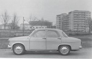 La Giulietta nei pressi di via Grosotto, 1955