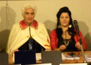 Rocco Basciano presidente dell'Associazione Culturale Arte Ba-Rocco e l'autrice Marilena Nocilla