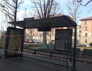 Pensilina rotta piazza Prealpi
